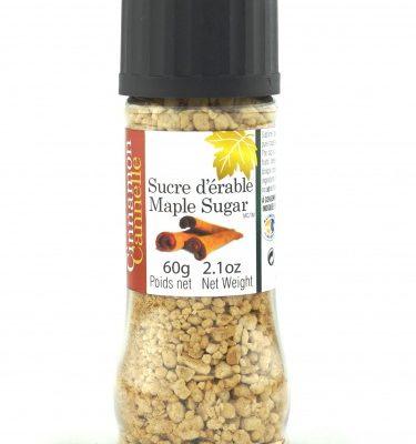 Sucre d'érable et Cannelle- Sucrière 60g Bouchon-moulin