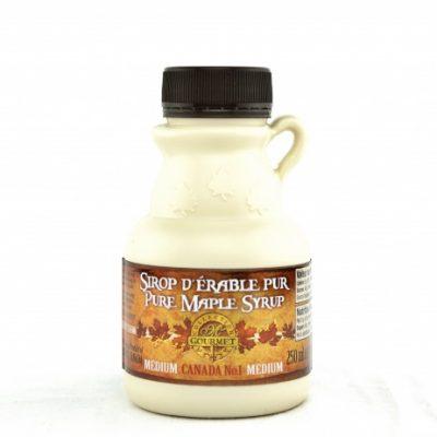 Sirop d'érable pur 250 ml-8.5 US Fl.oz CANADA A – Ambré, Goût Riche – Cruchon