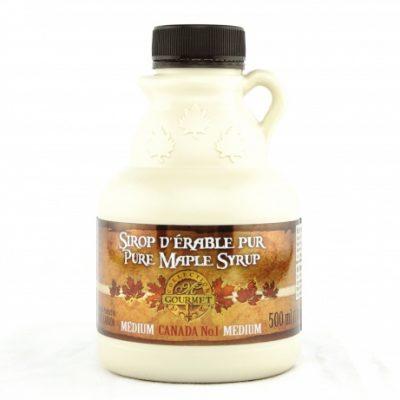 Sirop d'érable pur 500 ml-17 US Fl.oz CANADA A – Ambré, Goût Riche – Cruchon