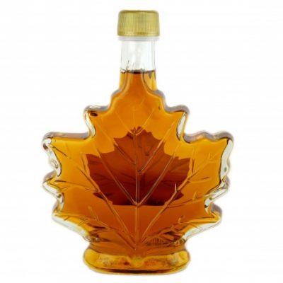 Sirop d'érable pur 250 ml-CANADA A – Ambré, Goût Riche -Feuille Bouteille de verre