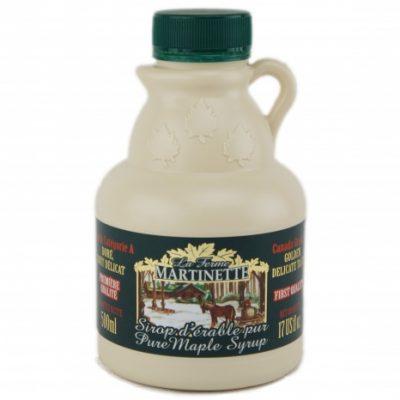 Sirop d'érable pur 500 ml -Doré, Goût Délicat