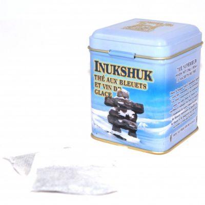 Thé Inukshuk (bleuets-vin de glace) 26g – 12 sachets Bte de métal
