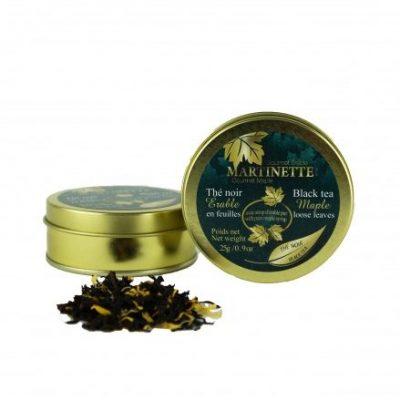 Thé noir Érable 25g-en feuilles Bte de métal