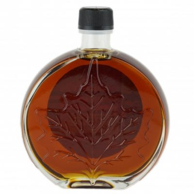 O CANADA- Sirop d'érable Pur FONCÉ, Goût Robuste 250ml- Médaillon feuille
