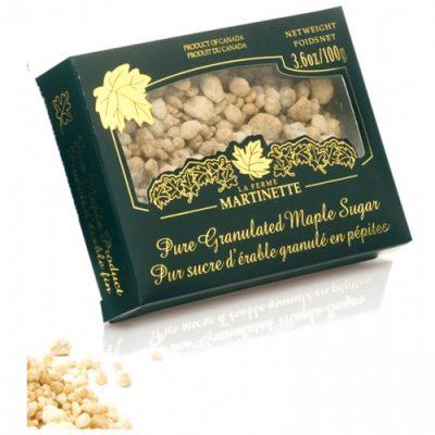 Pur sucre d'érable granulé PÉPITES – Boîte de 100 g / 3.6 oz