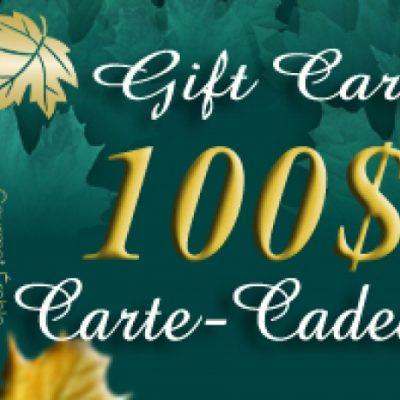 CARTE-CADEAU DE 100$