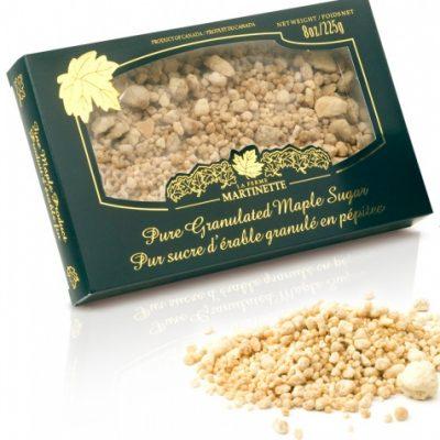 Pur sucre d'érable granulé PÉPITES – Boîte de 225 g / 8 oz