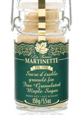 Pur sucre d'érable granulé FIN – Pot clapet de métal 150 g / 6 oz