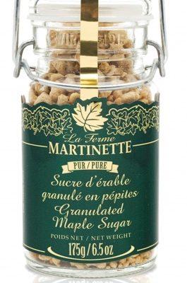 Pur sucre d'érable granulé PÉPITES – Pot clapet de métal 175 g / 6.5 oz
