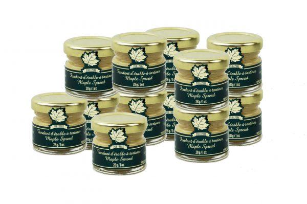beurre d'érable pur 12x28g pots