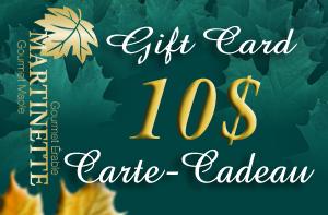 CARTE-CADEAU DE 10$