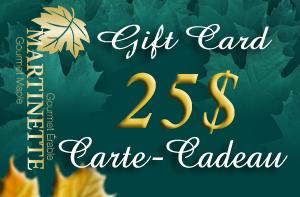 CARTE-CADEAU DE 25$