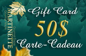 CARTE-CADEAU DE 50$