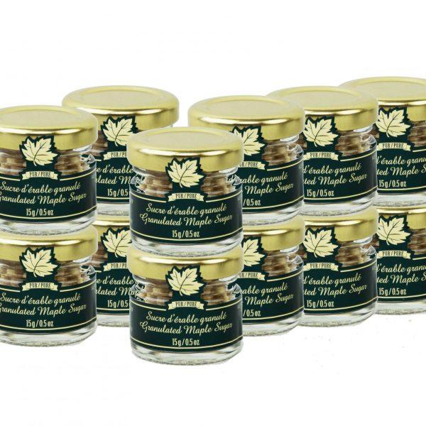 Pur sucre d'érable granulé PÉPITES- Mignons 12 x 15g