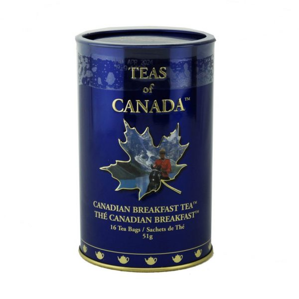 Thé Canadien Breakfast 51g – 16 sachets Bte de métal