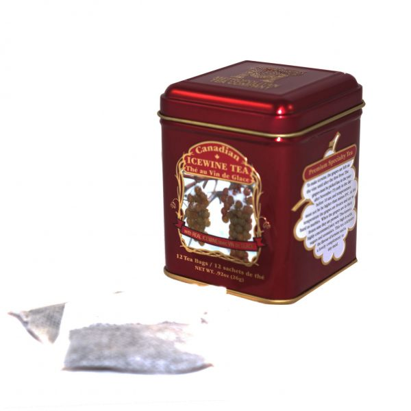Thé au vin de glace canadien 26g – 12 sachets Bte de métal