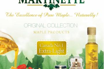 COLLECTION ORIGINALE Martinette- Sirop d'érable pur du Québec- CANADA A Doré, goût délicat