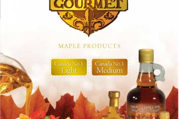 "COLLECTION ""M"" GOURMET- Sirop d'érable pur du Québec- Canada NO1 CLAIR et Canada NO1 MEDIUM"