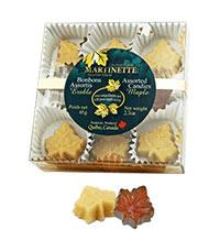 Bonbons assortis d'érable -boîte (65g/2.3 oz)