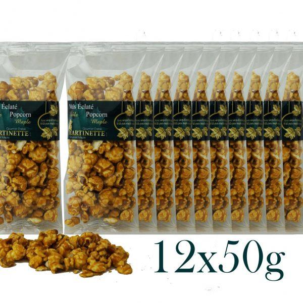 Maïs Éclaté à l'érable 12x50g – sacs