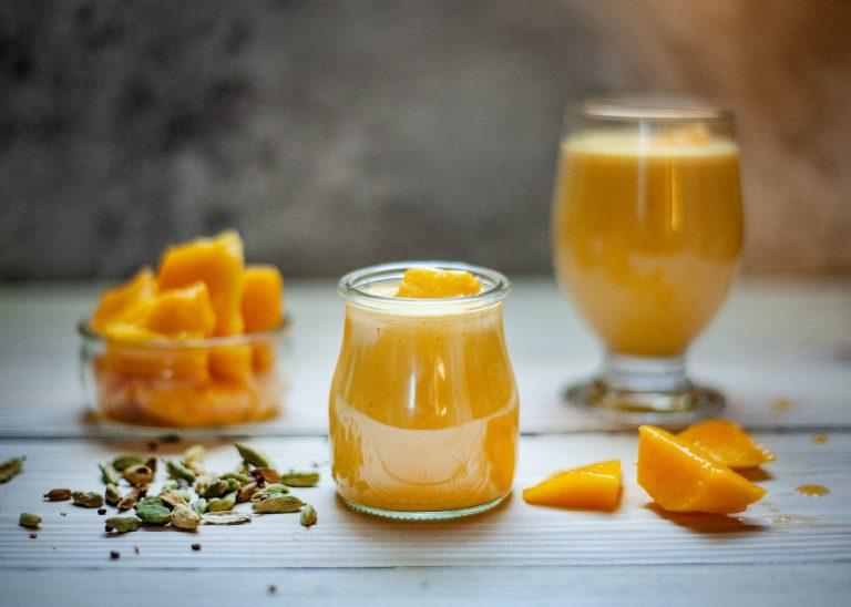 Pouding à la mangue parfumé à l'érable (diabète)