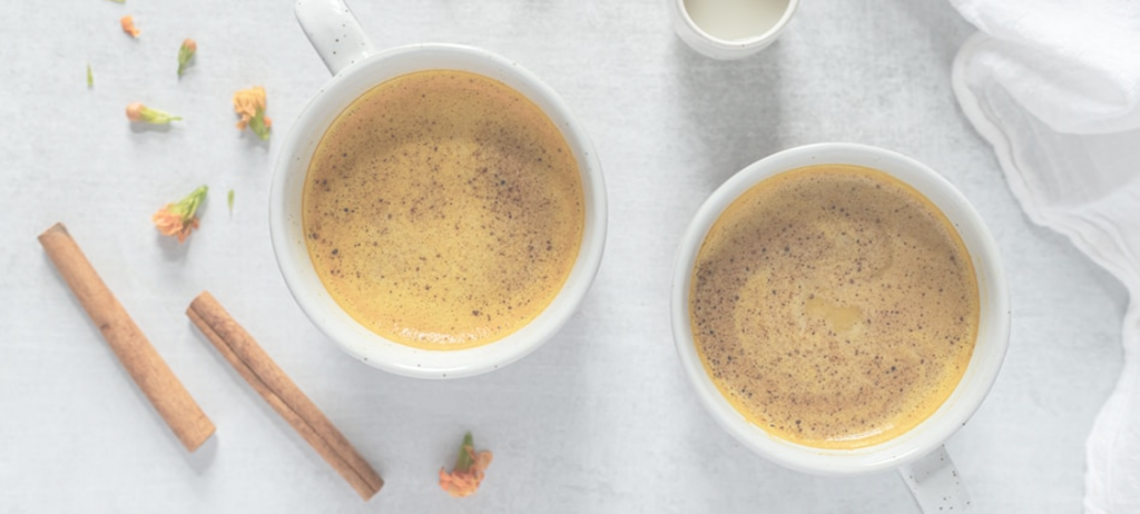 Latte curcuma sirop érable