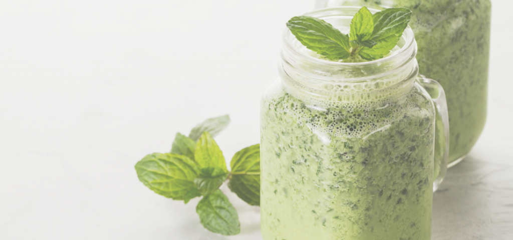 Recette smoothie vert menthe érable