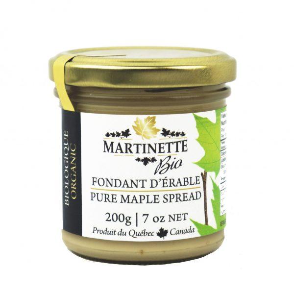 Fondant d'érable pur biologique (beurre d'érable) 200 g